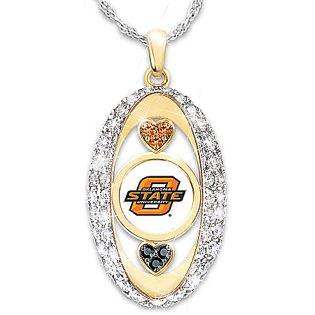 For The Love Of The Game Oklahoma State Cowboys Pendant Necklace