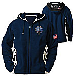 United States Navy Pride Men's Hoodie With American Flag Graphic