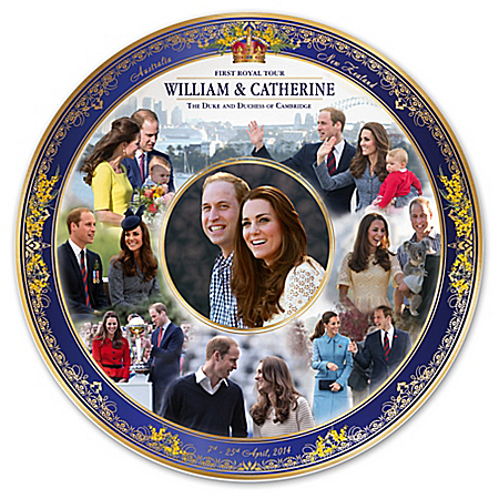 2014 Royal Tour Commemorative Collector Plate Featuring Prince William And Kate