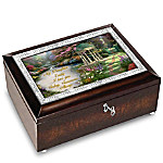 My Daughter, I Will Love You Always Personalized Music Box With Thomas Kinkade Art