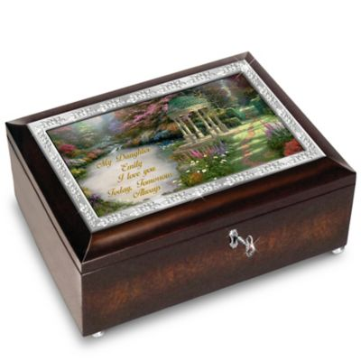 Bradford Exchange My Daughter, I Will Love You Always Personalized With Thomas Kinkade Art