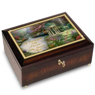 Bradford Exchange My Granddaughter, I Will Love You Always Personalized With Thomas Kinkade Art