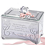 Granddaughter, You're A Blessing Personalized Music Box With Personalized Heart Charm