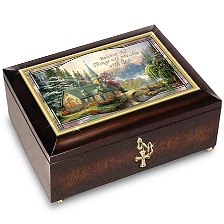 Thomas Kinkade: Believe All Things Are Possible Music Box - Lights Up