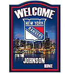 Welcome Sign - New York Rangers® Personalized Welcome Sign