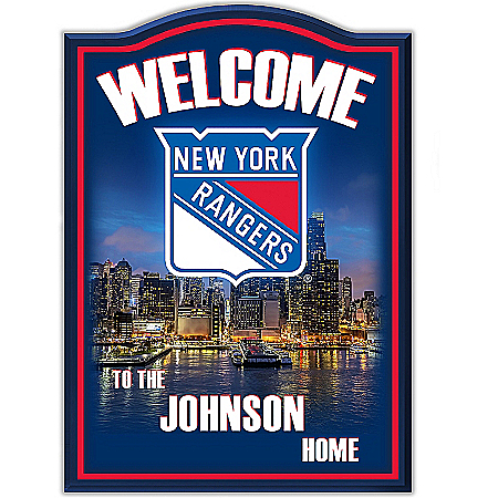 Welcome Sign: New York Rangers® Personalized Welcome Sign