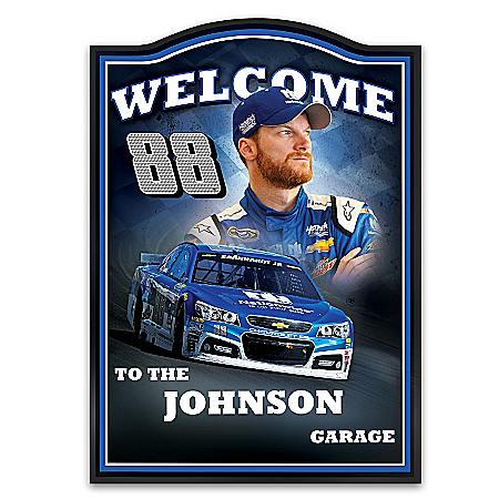 Dale Earnhardt Jr. Personalized NASCAR Welcome Sign