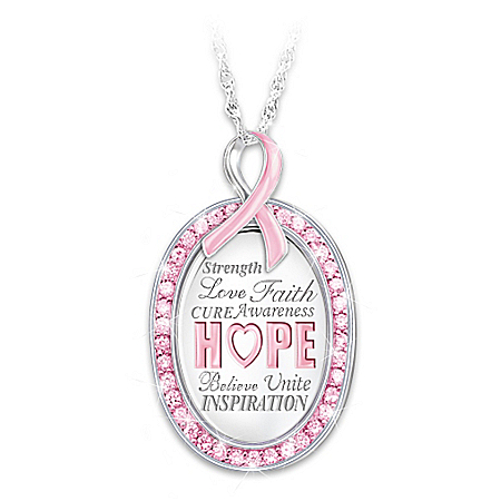 Strength In Hope Breast Cancer Awareness Pendant Necklace