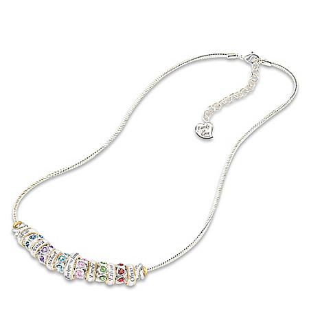 Family Celebration Personalized Birthstone Women's Necklace