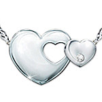 Always My Granddaughter Heart-Shaped Diamond Necklace