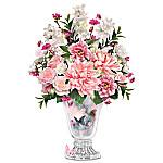 Lena Liu Majestic Garden Crystal Vase Floral Table Centerpiece