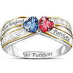 Heart Of New England Crystal Women's Ring