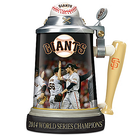 San Francisco Giants 2014 World Series Commemorative Stein With Game Images
