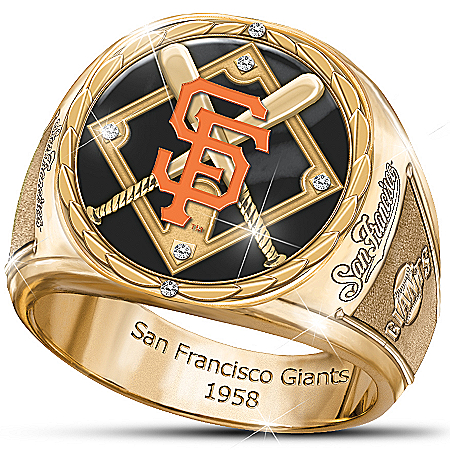 MLB-Licensed Pride Of San Francisco Giants Commemorative Engraved Stainless Steel Men's Ring