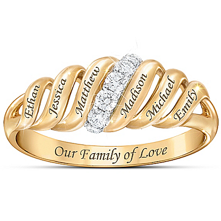 Our Family Is Love Personalized Women's Diamond Ring