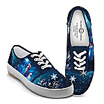 Disney FROZEN Let It Go Women's Canvas Shoes With Elsa, Anna And Olaf