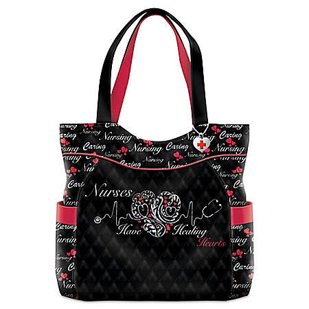 Nurses Have Healing Hearts Women's Tote Bag