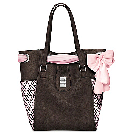 Beauty Of Hope Breast Cancer Awareness Scarf Shoulder Tote Bag