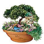 Thomas Kinkade Love Lives Here Floral Garden Table Centerpiece