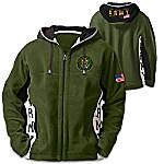 U.S. Army Hoodie - Men's Green Hooded Fleece Jacket