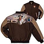 Duke John Wayne Men's Twill Varsity-Style Jacket