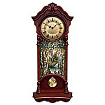 Thomas Kinkade Illuminated Stained Glass Two Feet High Wall Clock