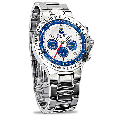 Kansas City Royals Collector's Stainless Steel Watch