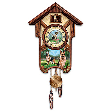 Linda Picken German Shepherd Cuckoo Clock