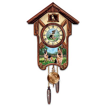 Linda Picken German Shepherd Cuckoo Clock