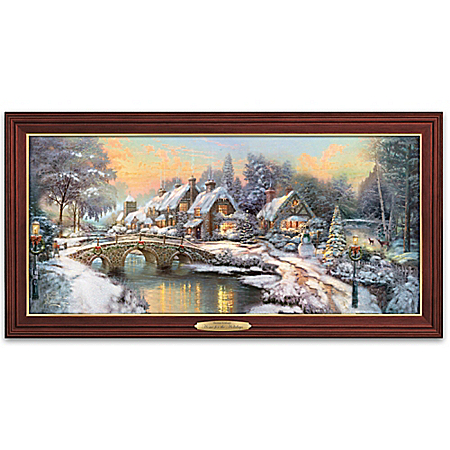 Thomas Kinkade Home For The Holidays Illuminated Wall Decor