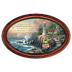 Thomas Kinkade The Light Of Peace Personalized Wall-Hanging Collector Plate