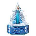 Disney FROZEN Let It Go Music Box With Elsa Sculpture And Crystalline Castle