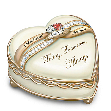Soul Mates Personalized Heart Shaped Music Box