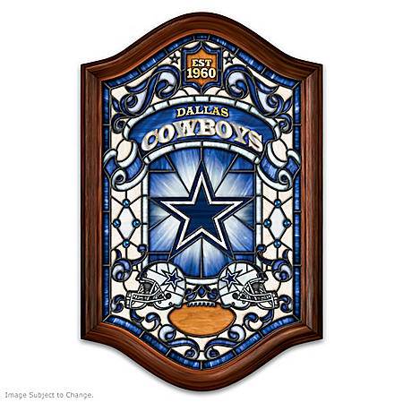 Dallas Cowboys Illuminated Wood Frame Stained-Glass Wall Decor