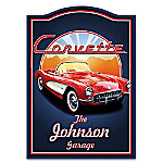 1957 Chevrolet Corvette Personalized Welcome Sign