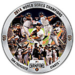 2014 World Series San Francisco Giants Porcelain Collector Plate With Game Images