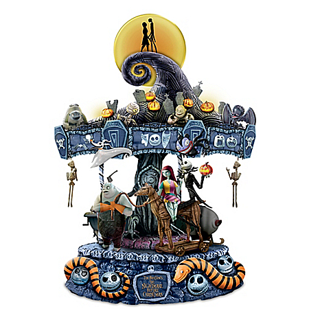 Tim Burton's The Nightmare Before Christmas Rotating Musical Carousel: Lights Up