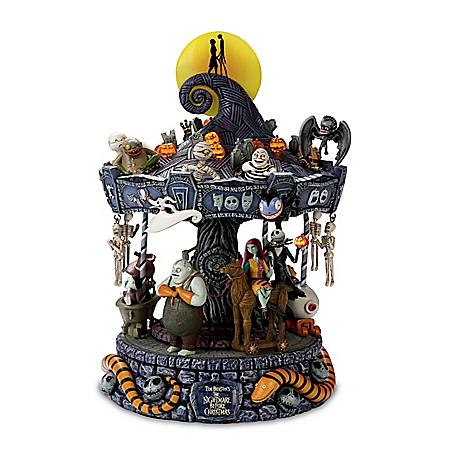 Tim Burton's The Nightmare Before Christmas Rotating Musical Carousel: Lights Up
