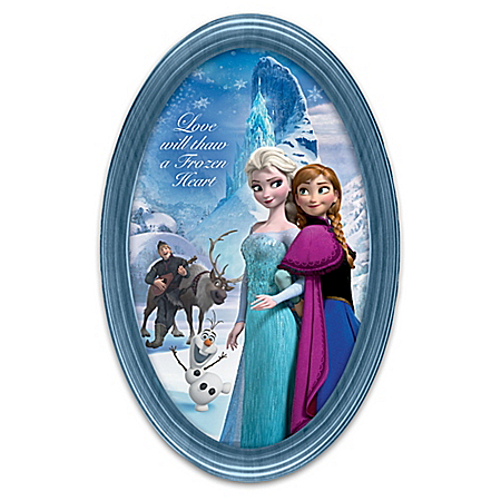 Disney FROZEN Wall-Hanging Masterpiece Framed Collector Plate