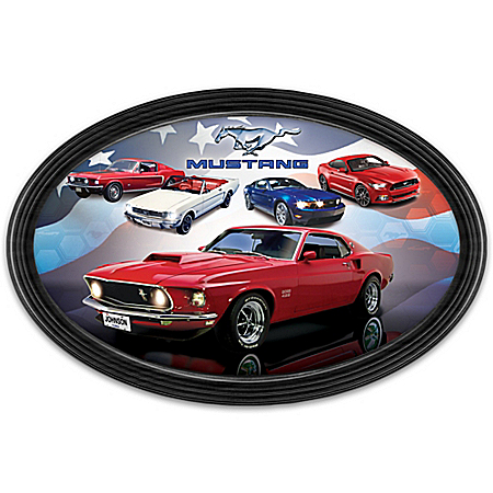 Ford Mustang American Muscle Car Collector Plate with Your Name and State