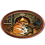 Charles Wysocki Cozy Catnap Purr-fect Pair Personalized Collector Plate