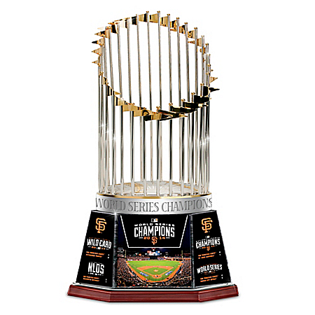 2014 World Series Giants Commemorative Trophy With Postseason Stats