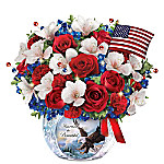 America The Beautiful Lighted Crystal Centerpiece