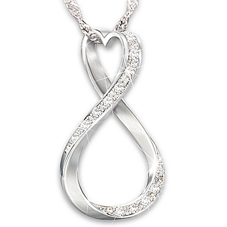 Forever Our Love Personalized Diamond Women's Pendant Necklace – Personalized Jewelry