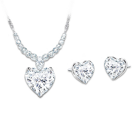 Love At First Sight Diamonesk Necklace And Earrings Set