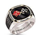 Corvette - The Legend Stainless Steel Men's Ring