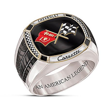 Corvette: The Legend Stainless Steel Men's Ring