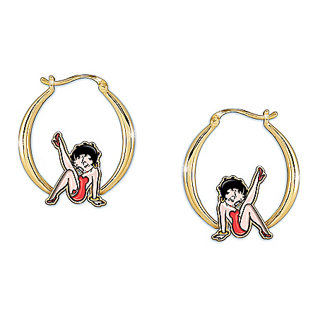 Kick Up Your Heels Betty Boop Hoop Earrings