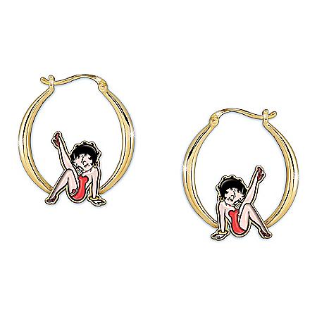 Kick Up Your Heels Betty Boop Hoop Earrings