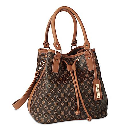 Alfred Durante Brown Midtown Signature Bucket Handbag